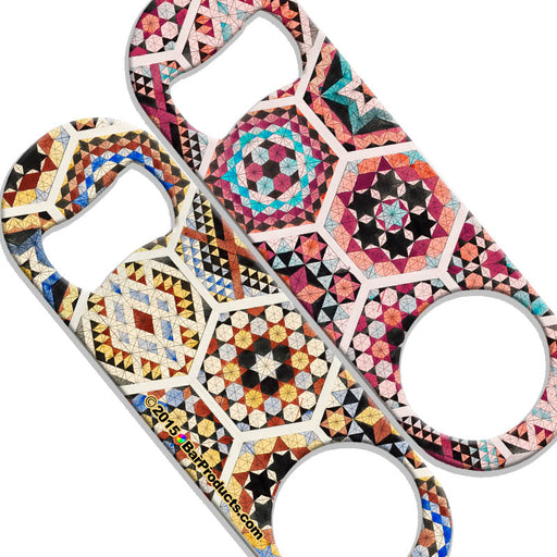 Speed Bottle Opener - Medium Sized 5 inch - Mosaic Design - 800