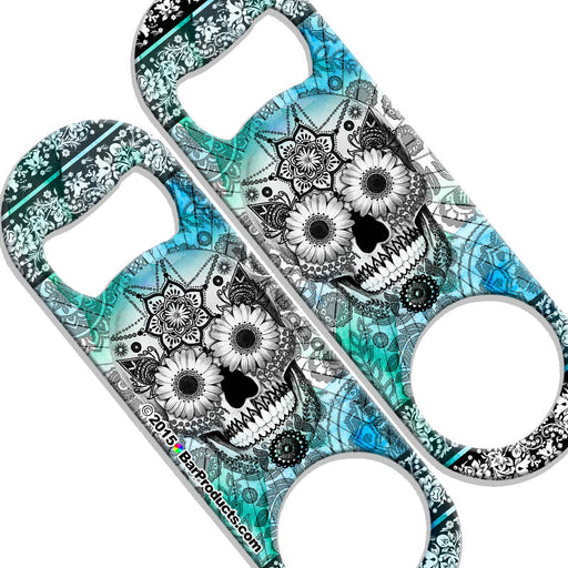 Speed Bottle Opener - Medium Sized 5 inch - Sugar Skulls - 800