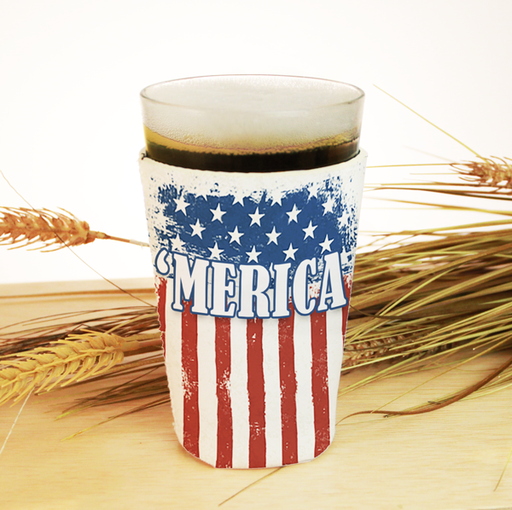 ADD YOUR NAME Pint Glass Cooler - 'MERICA