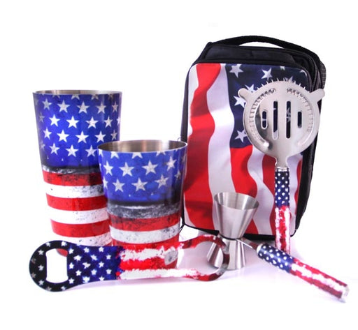 USA Flag Bartender Set