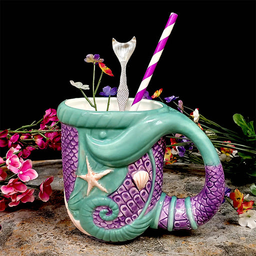BarConic® Tiki Mermaid Tail Mug - 16 oz.