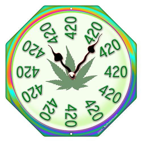 "It's 420 Somewhere"" Clock"