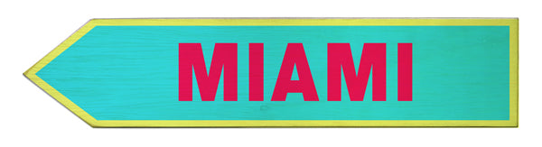 Miami Wood Arrow Sign- Left