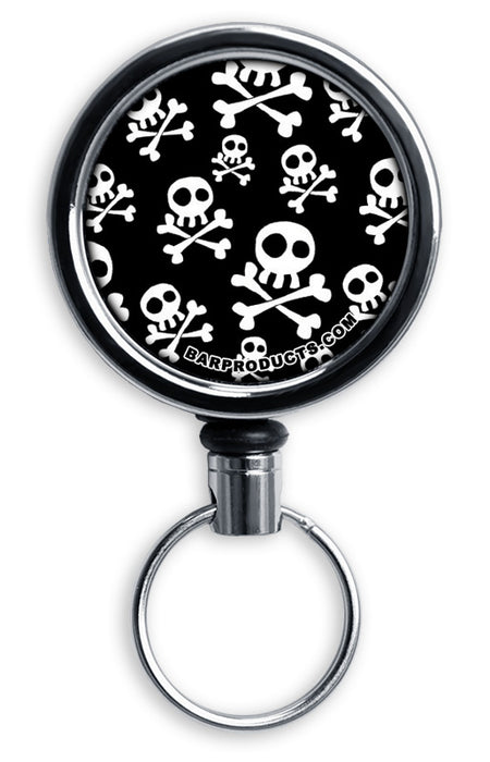 Mirrored Chrome Retractable Reel ONLY – Skulls
