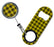 Kolorcoat Mini Opener with Retractable Reel - Yellow Plaid