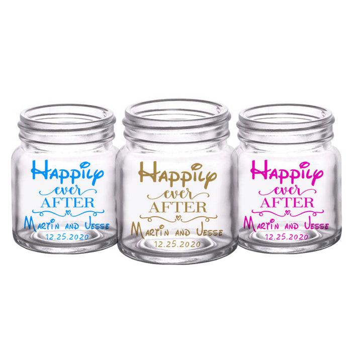 CUSTOMIZABLE - 2oz Clear Mini Mason Jar Shot Glass - Disney