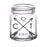 CUSTOMIZABLE - 2oz Clear Mini Mason Jar Shot Glass - Arrow