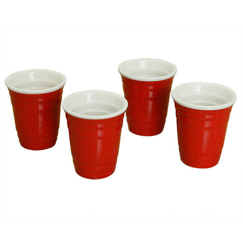 Mini Red Cup Shot Glasses Set (4 Pack)