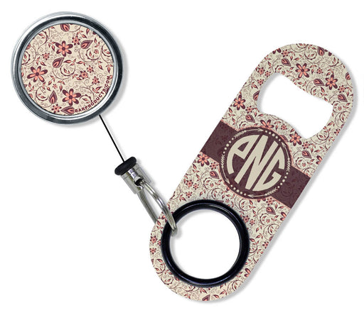 CUSTOMIZABLE Mini Bottle Opener with Retractable Reel - Vintage Design 4