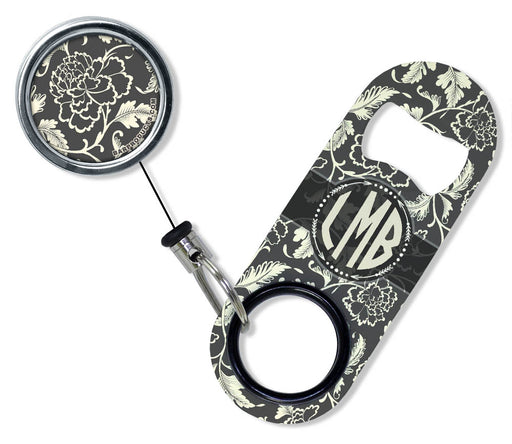 CUSTOMIZABLE Mini Bottle Opener with Retractable Reel - Vintage Design 5
