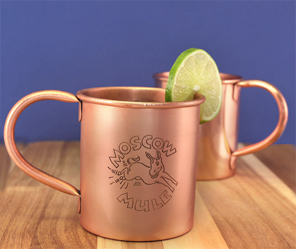 Copper Moscow Mule Mug - 16 ounce - With Logo