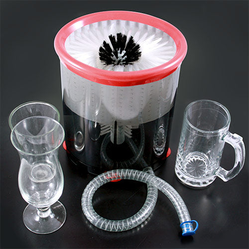 Glass Mug Washer with Drain Hose - Self Contained