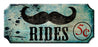 Mustache Rides Wood Plaque Kolorcoat™ Sign