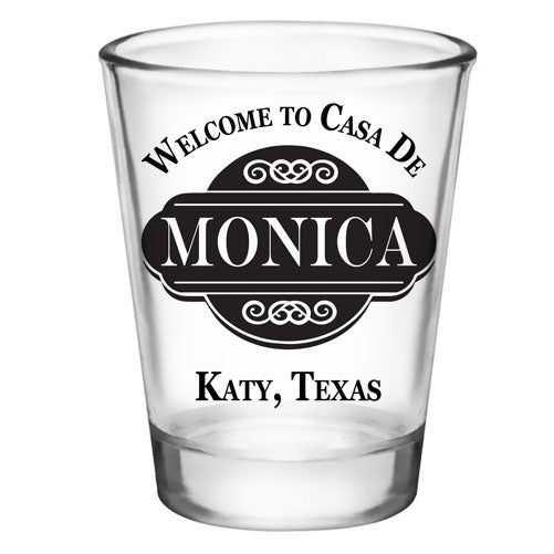 CUSTOMIZABLE - 1.75oz Clear Shot Glass - Casa De