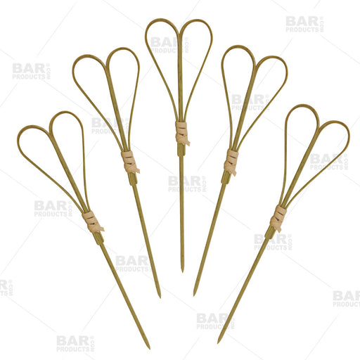 BarConic® Heart Bamboo Cocktail Picks