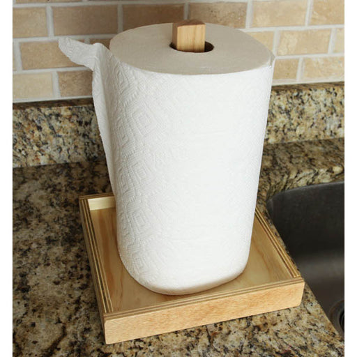 Natural Wooden Paper Towel Holder