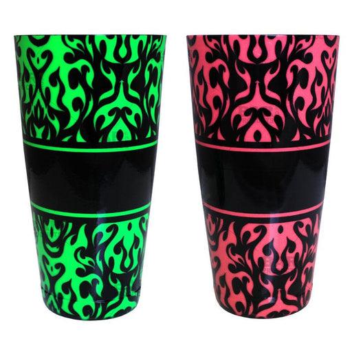 Cocktail Shaker Tin - Printed Designer Series - 28oz weighted - NEON Swirls