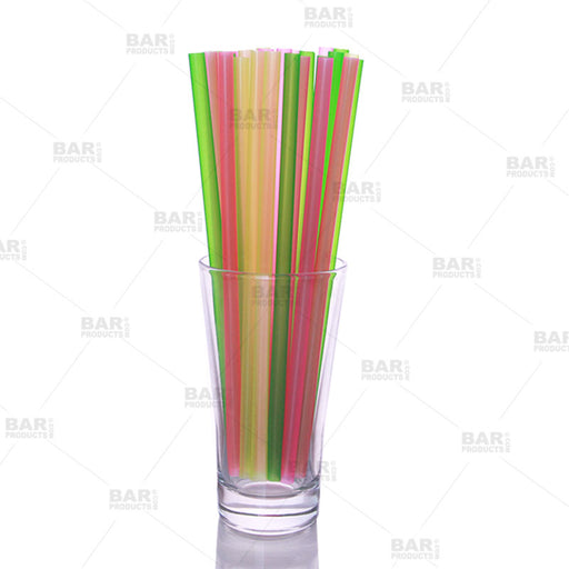 "BarConic® 8"" Straws - Assorted Neon"