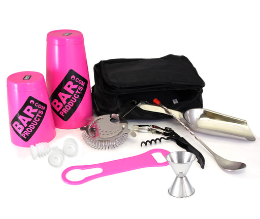 Neon Pink Tipsy Bartender Bar Package Set