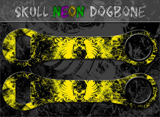 Winged Skull - Neon Yellow