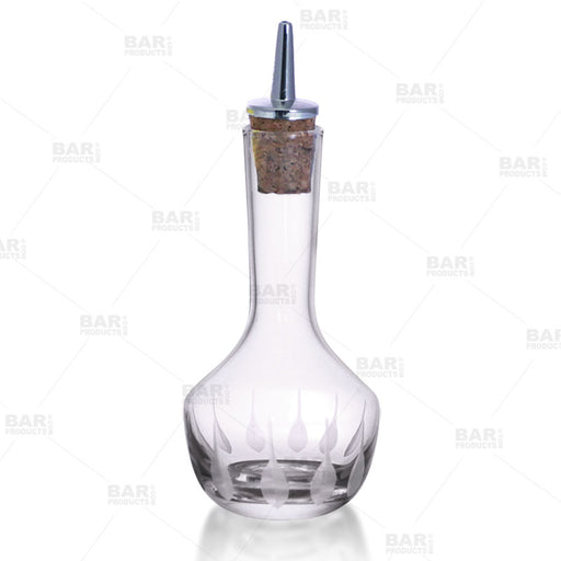 BarConic® Bitters Bottle with Feather Etching