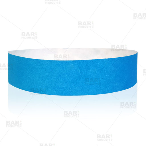 Paper Wristbands - Light Blue - Box of 500