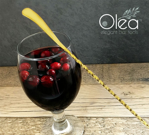 Olea™ Gold Plated Bar Spoon - Bent Tip - 30cm Length