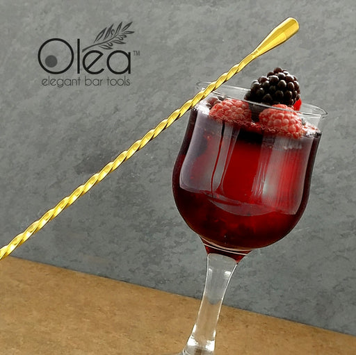 Olea™ Gold Plated Bar Spoon - Weighted Tip - 50cm Length