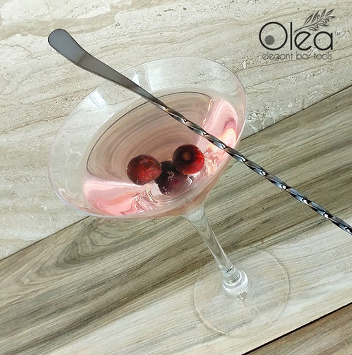 Olea™ Gunmetal Plated Bar Spoon - Bent Tip - 50cm Length
