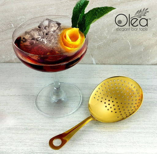 Olea™ Julep Cocktail Strainer - Gold Plated