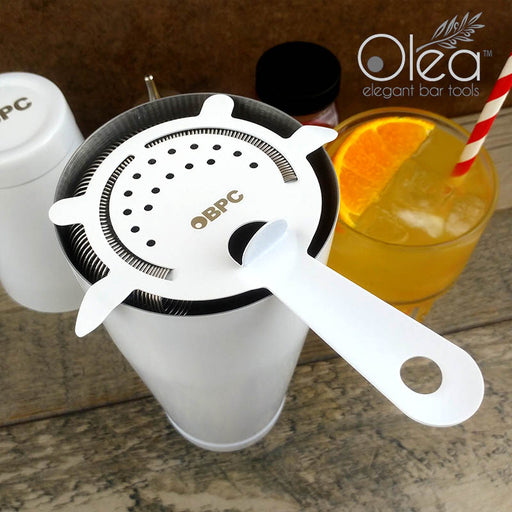 Olea™ Cocktail Strainer - 4 Prong - Matte White