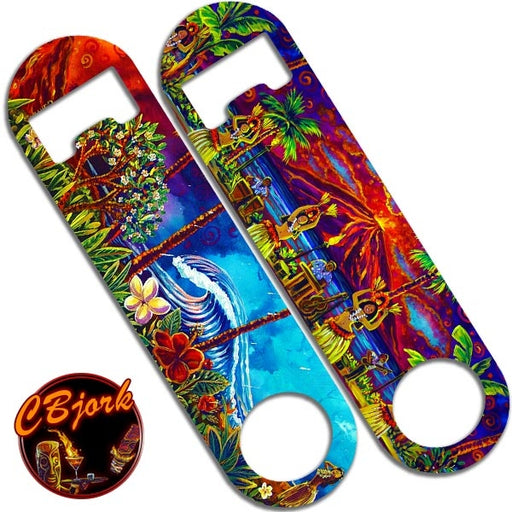 Skinny Mini Bottle Opener - Hawaiian Luau