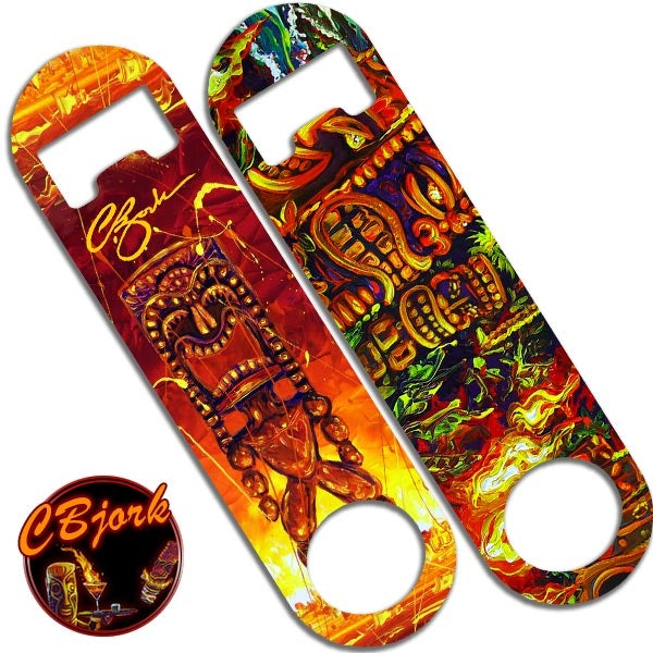 Skinny Mini Bottle Opener - Tiki Fire