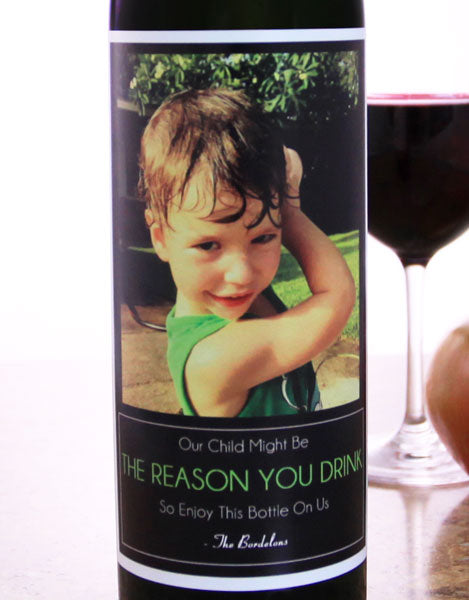 Add Your Name The Reason You Drink Wine Label - Large