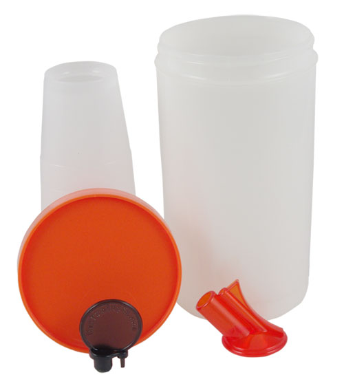 Oval Neck Juice Pourers - Quart Complete