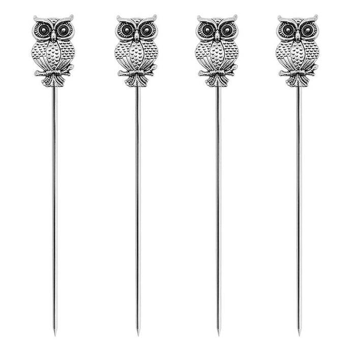 BarConic® Owl Cocktail Picks - 4 Pack