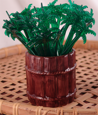 "BarConic® Green Palm Tree Stirrers - 7"" - Pack of 200"