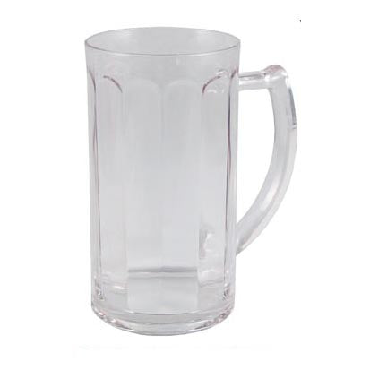BarConic® Drinkware - Clear Polycarbonate Paneled Beer Mug Cup - 350 ML