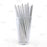 BarConic® Eco-Friendly Paper Straws - Silver Metallic - Pack of 100