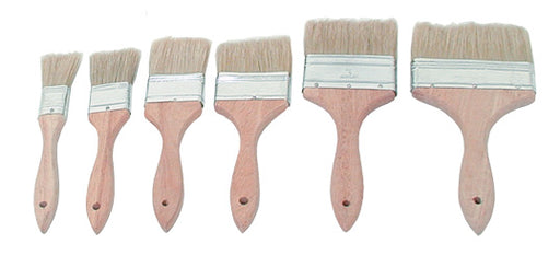 Pastry Brushes - Wooden Handle with Metal Bands