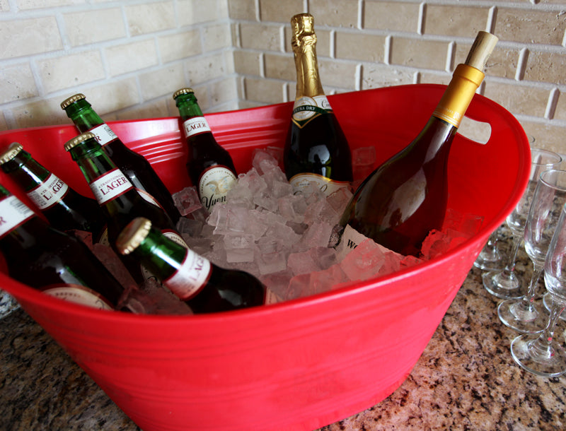 Red Party Bucket/ Beverage Tub
