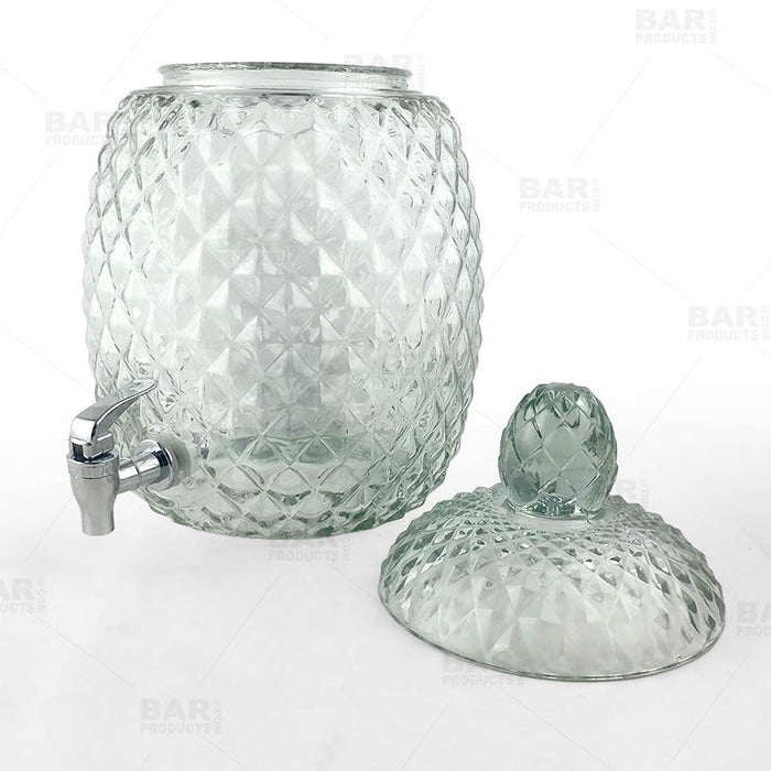 Pineapple Beverage Dispenser- 2.1 Gallons - Glass