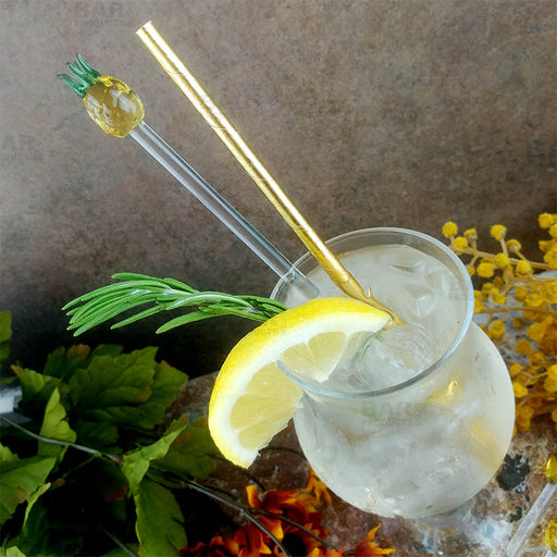 Pineapple Glass Drink Stirrers - Set of 6