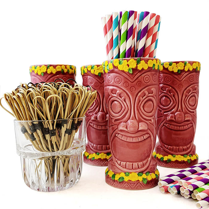 Tiki Mug Drinkware Set - Pink Goddess