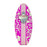 Hot Pink Hawaiian Flowers Wooden Surfboard Wall Bottle Opener