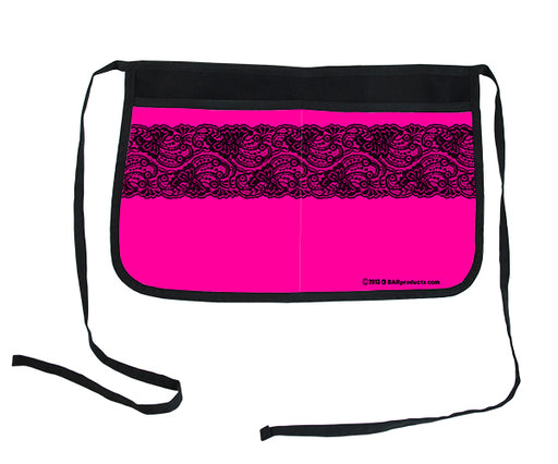 Hot Pink Lace Two-Pocket Kolorcoat™ Server Apron