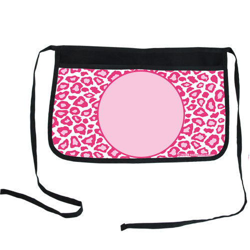 Pink Leopard Two-Pocket Custom Kolorcoat™ Server Apron