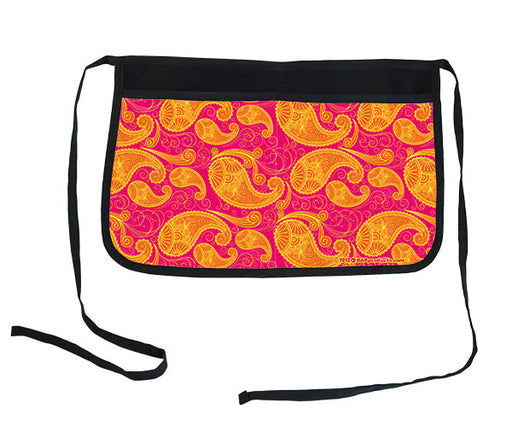 Pink & Orange Paisley Two-Pocket Kolorcoat™ Server Apron