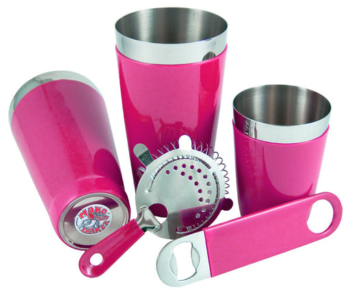 Vinylworks Bar Set - Pink - 5 Pieces