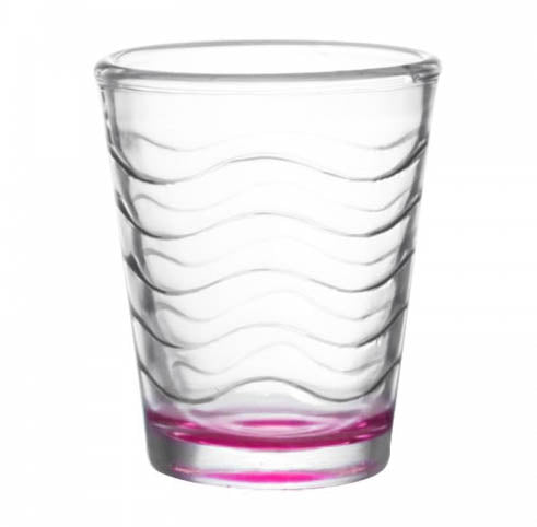 BarConic® Glassware - Shot Glass - Pink Wave 1.75 ounce